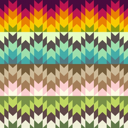 diagonal lines: Abstract ethnic pattern Illustration