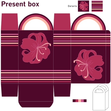 Box with flowers Illustration