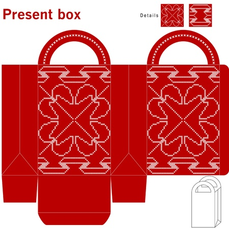 Decorative christmas box Vector