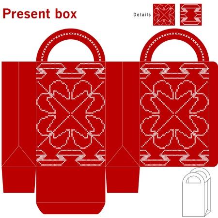 file box: Decorative christmas box