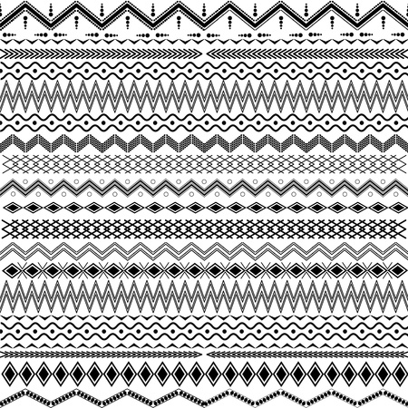 Texture with geometrical ornaments - black   white Vector
