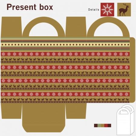 Present box with ornament