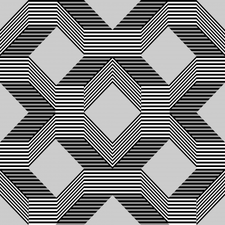 wavy fabric: Seamless pattern with lines gray Illustration