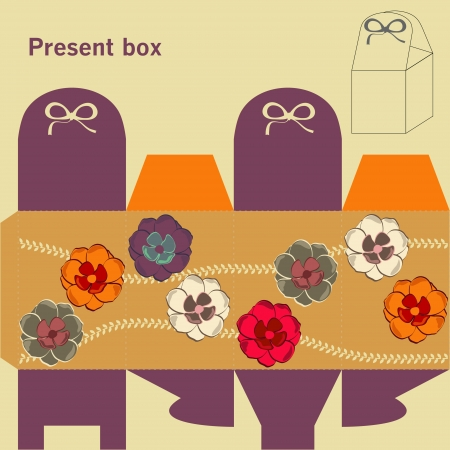 Template for present box Stock Vector - 16654836