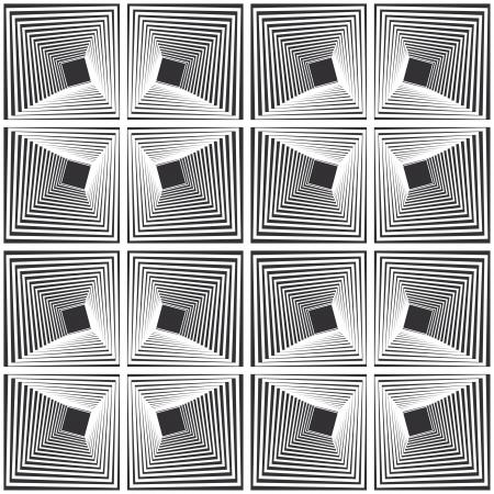 arte optico: Patrón - cuadrado distorsionado