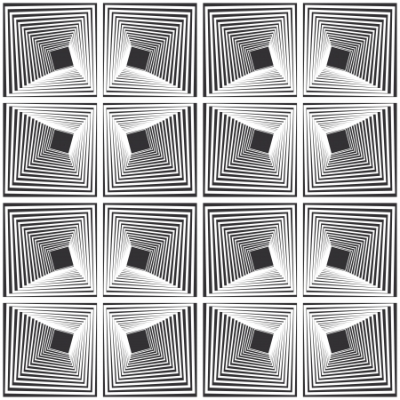 tunnel vision: Pattern - distorted square