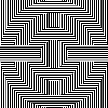 optical illusion: A black and white circles