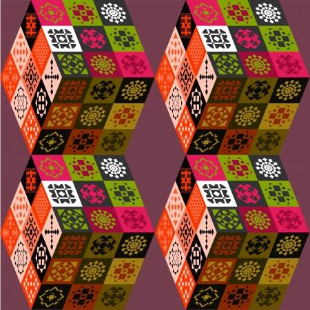 pastel tone: Pastel colorful 3d cubes background Illustration