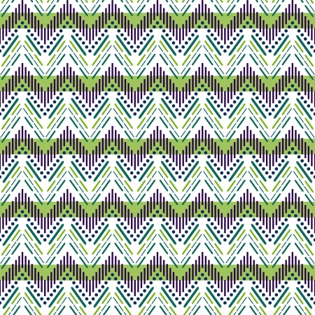 knitted background: Seamless zigzag pattern Illustration