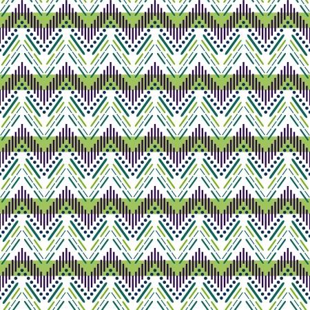 knitted fabrics: Seamless zigzag pattern Illustration