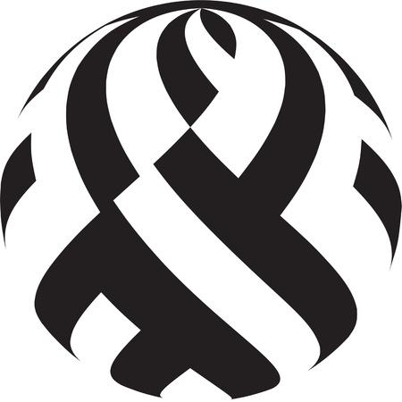 arte optico: Círculo en blanco y negro