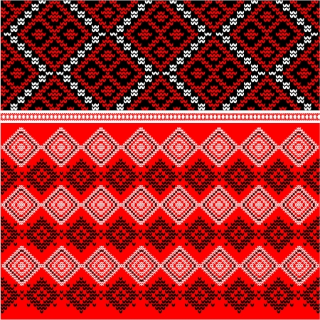 jacquard: Ethnic abstract geometric pattern Illustration