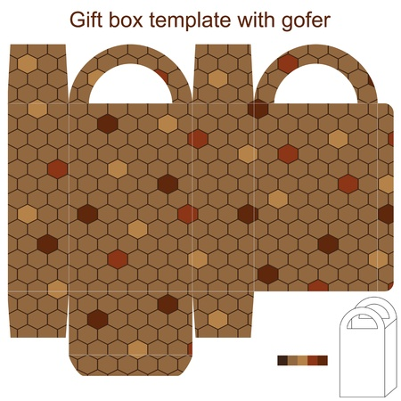 Gift box template with gofer Vector