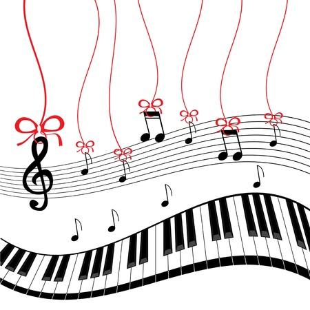 Antecedentes - música de piano Ilustración de vector