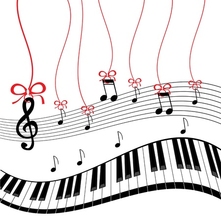 Background - piano music Vector