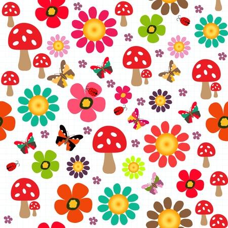 forrest: Happy spring pattern