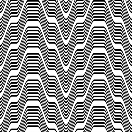 Pattern black and white zigzag Stock Vector - 18218845