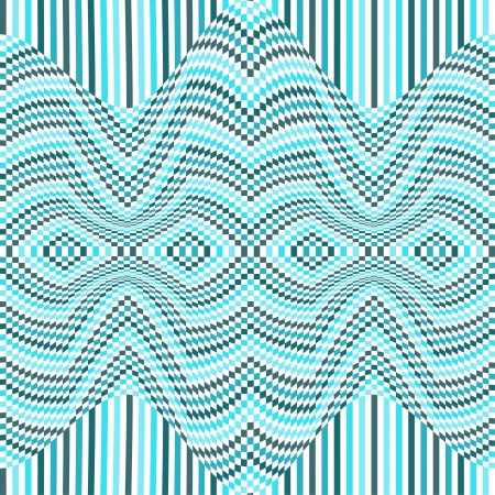 distortion: Abstract geometric distortion background Illustration