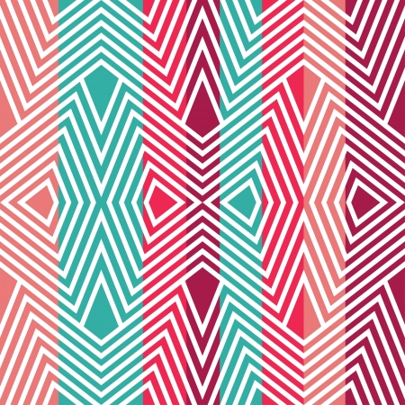 Colored pattern in zigzag