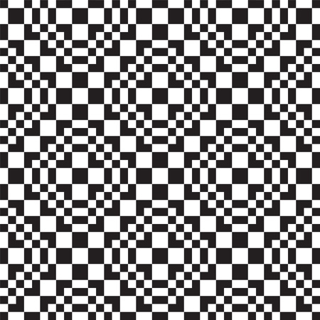 Seamless background with black and white square Stock Vector - 19481264