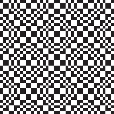 arte optico: Sin problemas de fondo con negro y blanco cuadrado