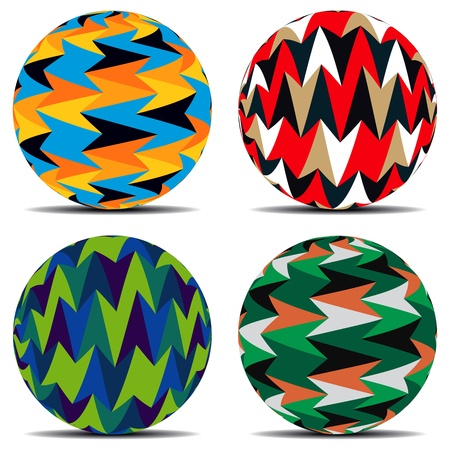 Set of colorful background on balls Stock Vector - 19481255