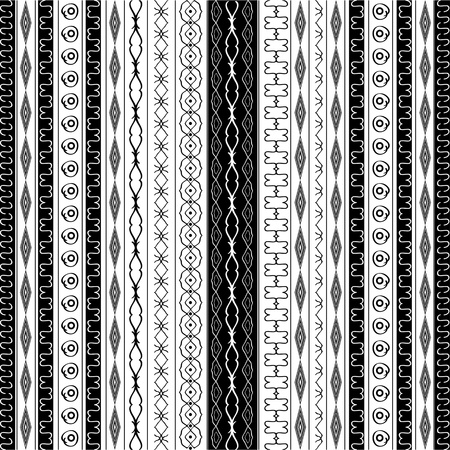 neoclassical: Geometric border patterns in black and white