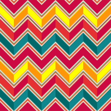 pastel colored: Pattern in zigzag - pastel colored Illustration