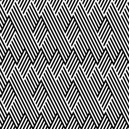Pattern with line black and white in zigzag Vector