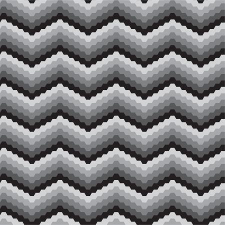 arte optico: Zigzags blancos negros