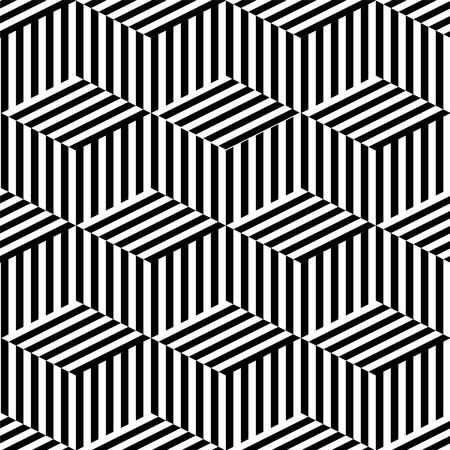optical illusion: Geometric seamless black and white