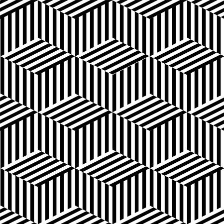monochroom: Geometrische naadloze zwart en wit