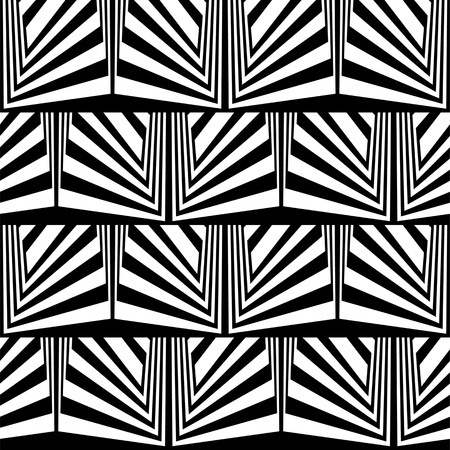 Optical illusion in black and white Vector