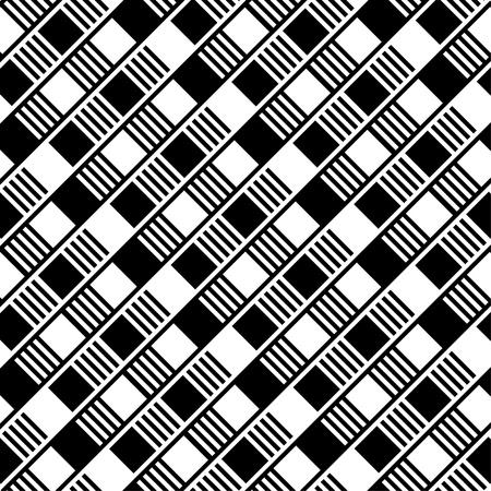 黒と白の正方形の SeSeamless の背景  イラスト・ベクター素材