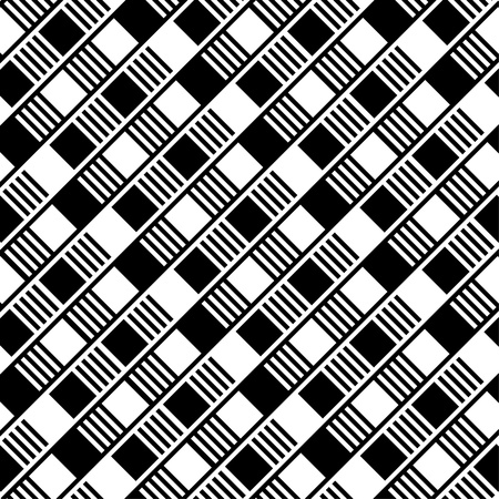 SeSeamless background with black and white squares Vector