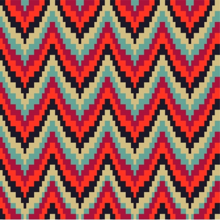 Seamless geometric pattern in zigzags Vector