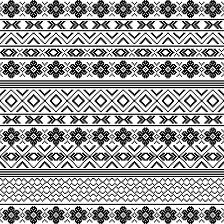 motifs: Ethnic motifs - pattern in black and white
