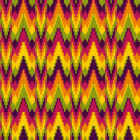 bstract: bstract ethnic pattern in zig zag