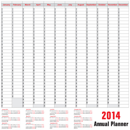 Table schedule - Annual Planner