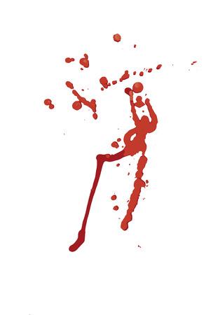 gore: Blood splatter isolated on white. Illustration