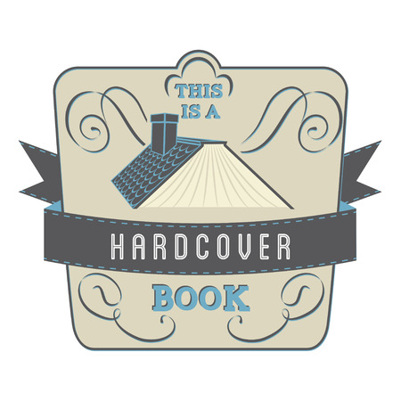Book Style and Type Label: Hardcover Book Vector