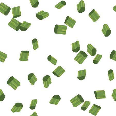 chive: Chives Pieces Seamless Pattern . Editable vector. Illustration