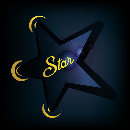 Star Illustration for the Showbiz with hand lettering in the dark.