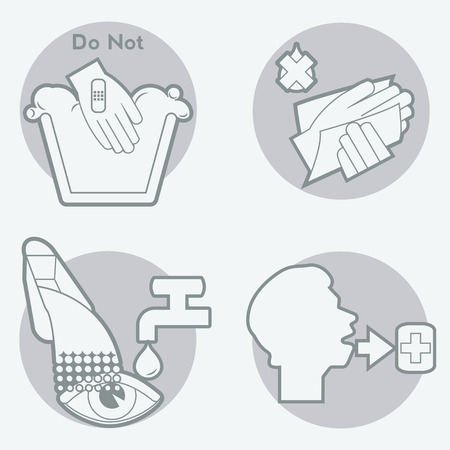 Package Symbols for Chemicals concerning health hazard. Gray