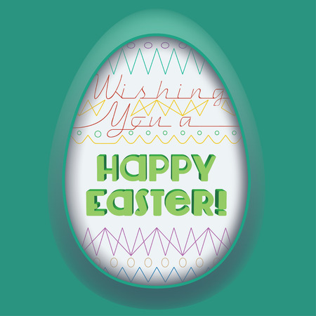 tridimensional: Easter Egg Greeting Card. Vector Gradient Meshes are used to recreate a tridimensional effect. Illustration