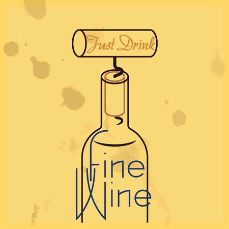 sommelier: S�lo bebe vino fino - cita, vino blanco con manchas superpuestas.