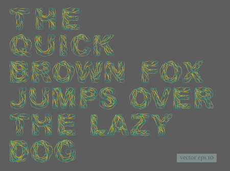 squiggly: Modern Colorful Decorative Font. Squiggly line art