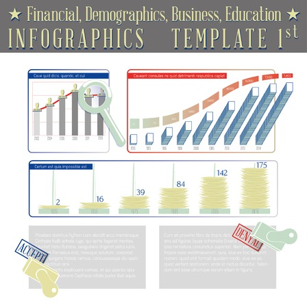 demography: Financial, Demographics, Business, Education Infographics Template 01