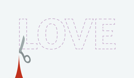 Inventive Valentines Day card with cutout love Vector