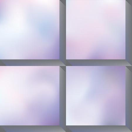 mauve: Four different gradient mesh backgrounds.